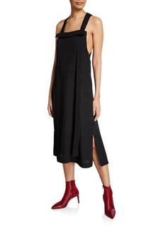 Rag & Bone Adrian Square-Neck Side-Button Midi Dress