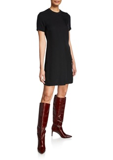 rag & bone Aiden Double-Vented Crewneck T-Shirt Dress