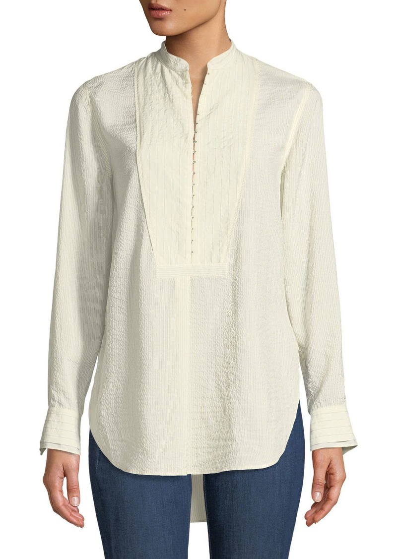 rag & bone Alfie Hook-Front Long-Sleeve Shirt