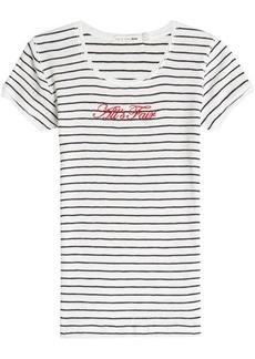 Rag & Bone All's Fair Embroidered Cotton T-Shirt