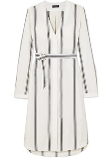 Rag & Bone Alyse Striped Cotton And Linen-blend Shirt Dress