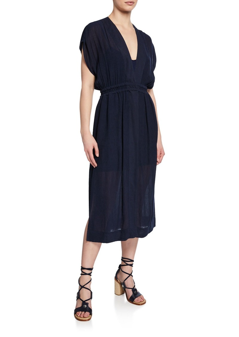 rag & bone Amelie V-Neck Short-Sleeve Dress