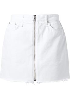 Rag & Bone Anna Frayed Denim Mini Skirt