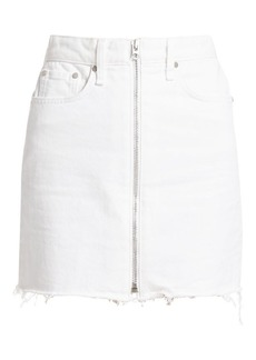 Rag & Bone Anna Raw Hem Zip Denim Skirt