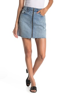 rag & bone Anna Zip Denim Mini Skirt