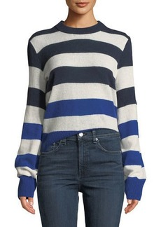 Rag & Bone Annika Crewneck Striped Cashmere Sweater