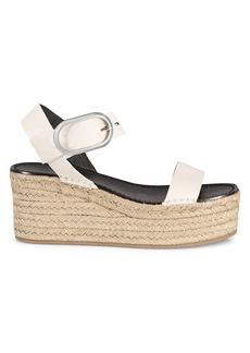 rag & bone Ansley Suede Espadrille Platform Wedge Sandals