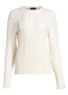 rag & bone Aran Cable Knit Crewneck Sweater