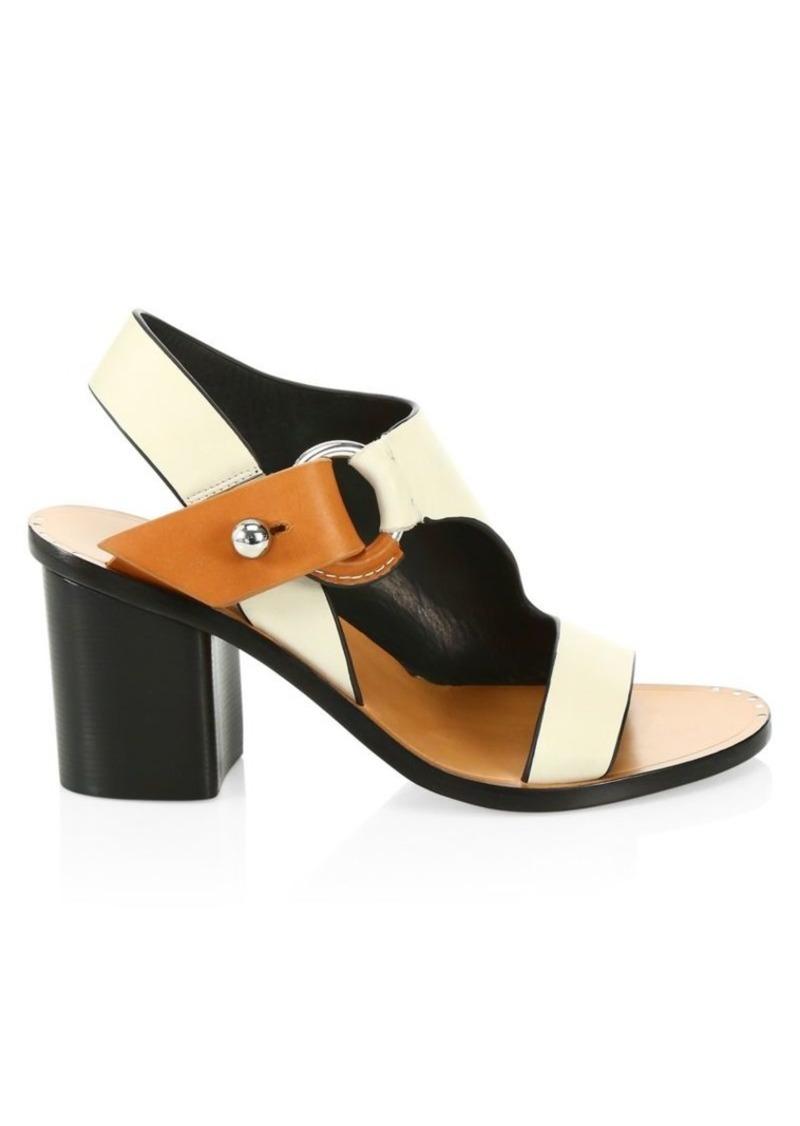 rag & bone Arc Block-Heel Leather Sandals