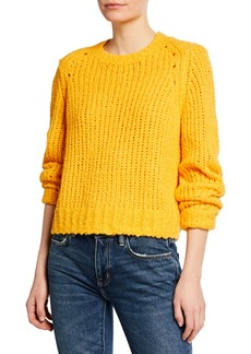 Rag & Bone Arizona Crew Boxy-Fit Wool Sweater