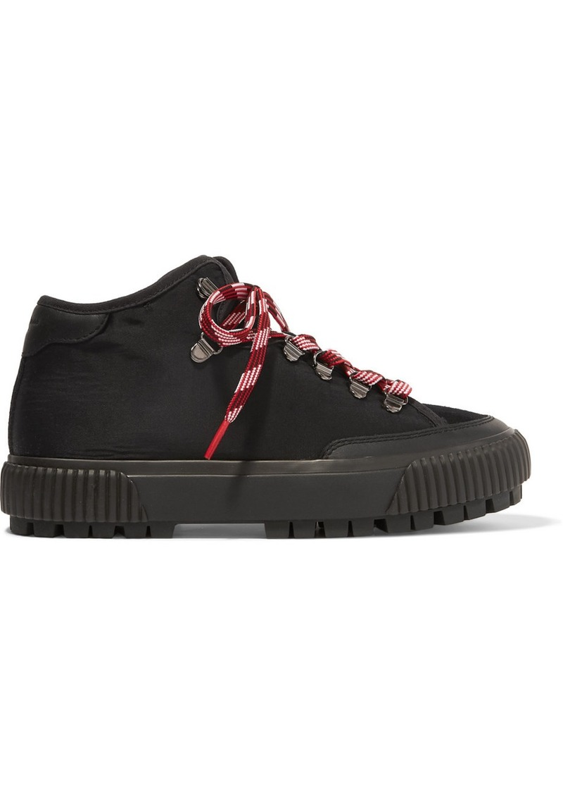rag & bone Army Canvas, Suede And Leather Ankle Boots