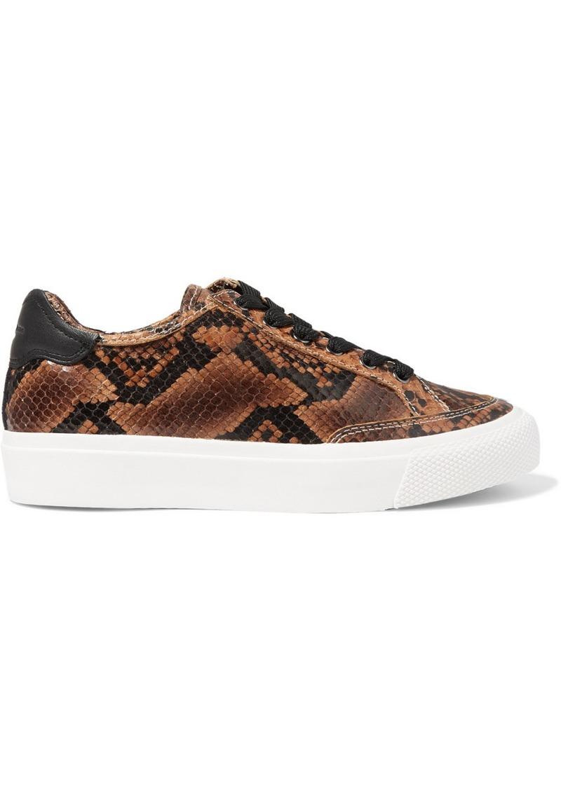 rag & bone Army Snake-effect Leather Sneakers