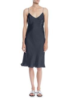 Rag & Bone Astrid V-Neck Sleeveless Iridescent Slip Dress