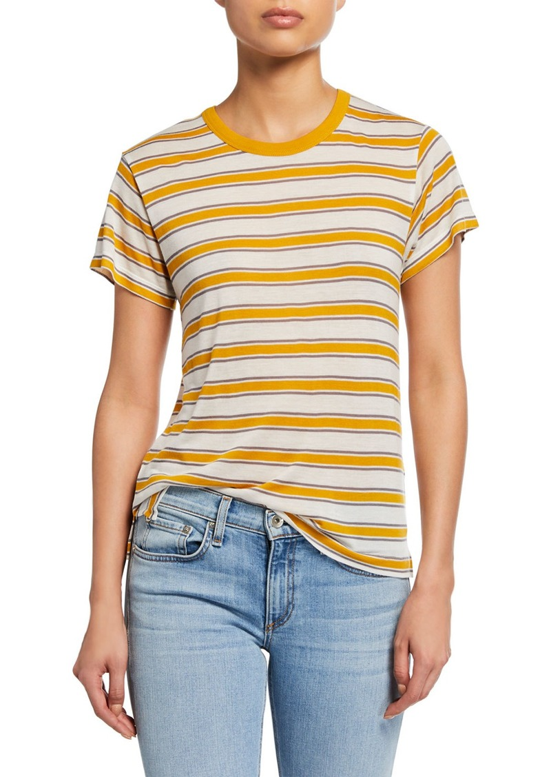rag & bone Avery Striped Short-Sleeve Tee