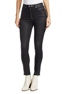 rag & bone Baxter Skinny High-Rise Coated Jeans
