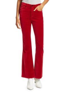 rag & bone Bella Velvet Flare-Cuff Pants