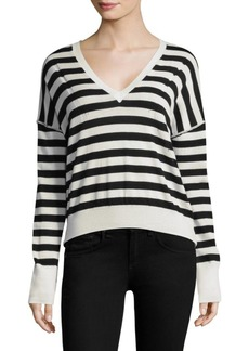 Rag & Bone Bevan Striped Merino Wool Sweater