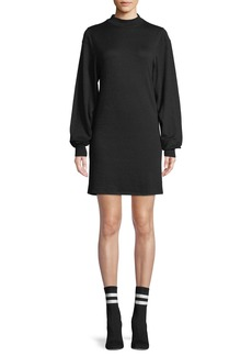 Rag & Bone Bigsby Mock-Neck Long-Sleeve Shift Dress