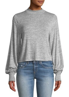 Rag & Bone Bigsby Mock-Neck Long-Sleeve Top