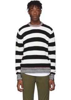 rag & bone Black & White Striped Axwell Sweater