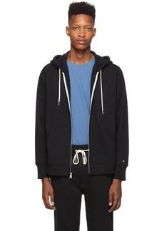rag & bone Black Classic Zip Hoodie