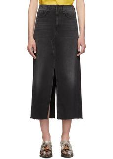 rag & bone Black Denim Clyde Skirt