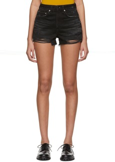 Rag & Bone Black Denim Maya Shorts