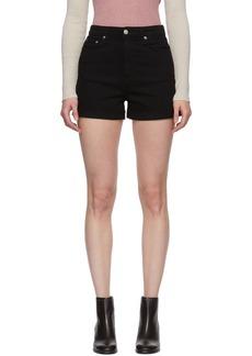 rag & bone Black Denim Nina High-Rise Shorts
