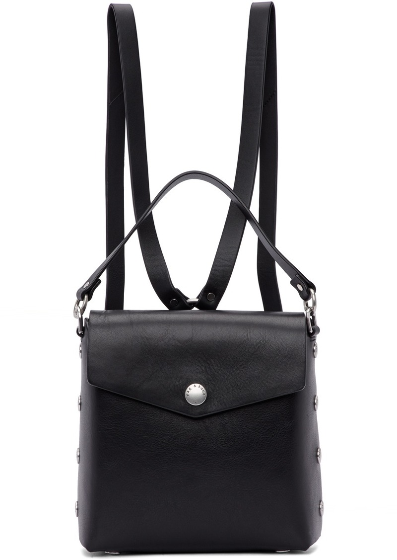 rag & bone Black Leather Atlas Backpack