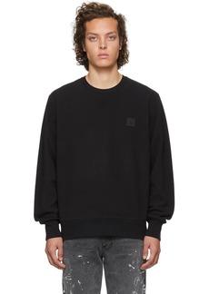rag & bone Black Melton Fleece Sweatshirt