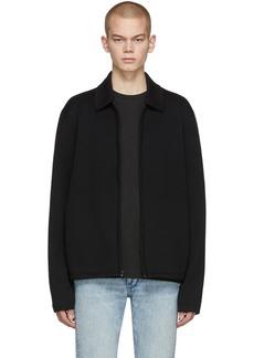 rag & bone Black Merino Melrose Zip Sweater