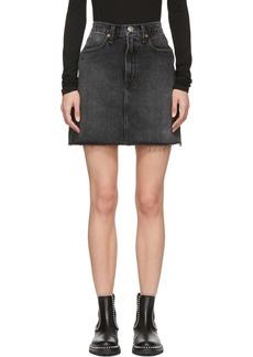 Rag & Bone Black Moss Miniskirt