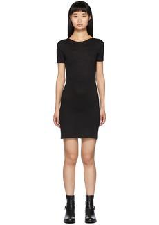 rag & bone Black Ribbed Dress