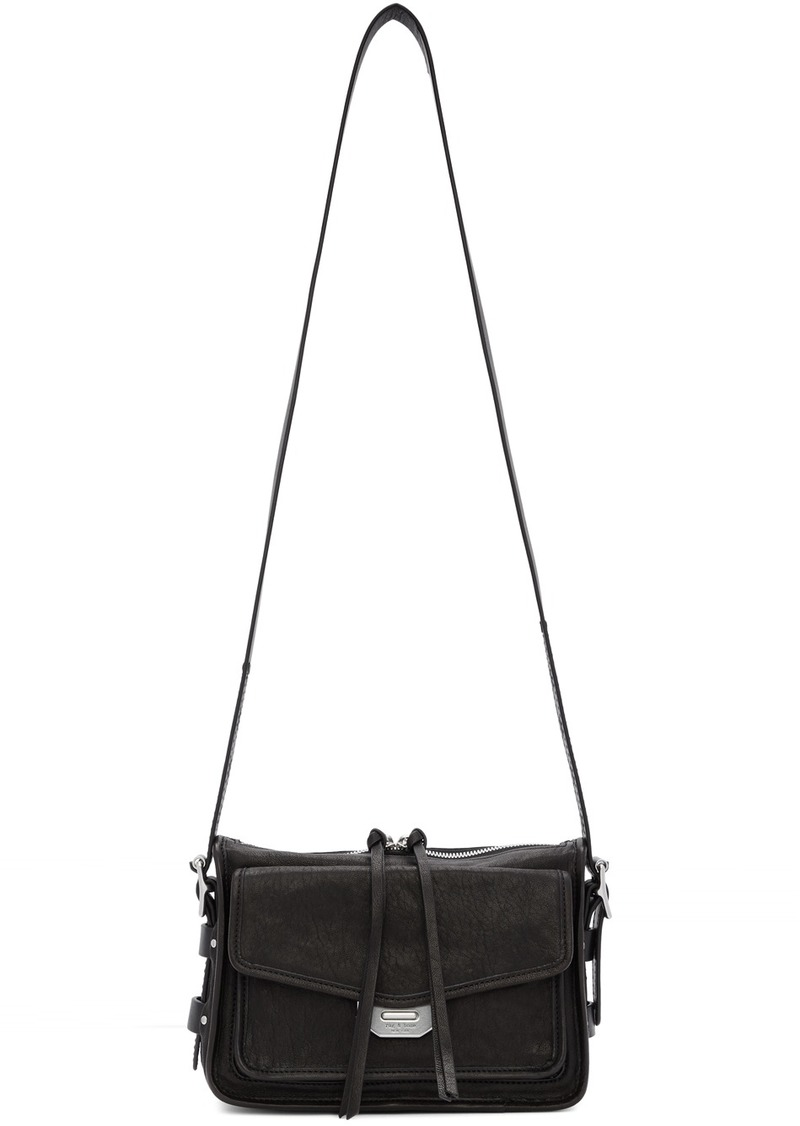 rag & bone Black Small Field Messenger Bag