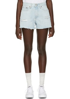 Rag & Bone Blue Denim Justine Short