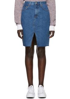 Rag & Bone Blue Denim Suji Skirt