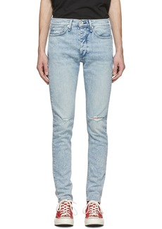 rag & bone Blue Fit 1 Hole Jeans