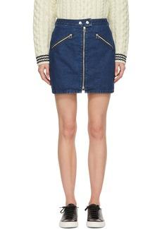 rag & bone Blue Racer Miniskirt
