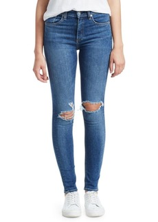 Rag & Bone Bonnie High-Rise Distressed Skinny Jeans