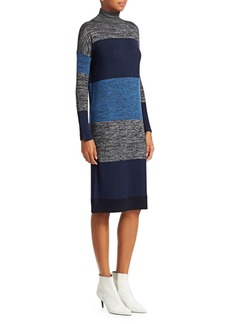 Rag & Bone Bowery Striped Turtleneck Sweaterdress