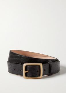 rag & bone Boyfriend Croc-effect Leather Belt