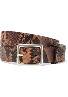 rag & bone Boyfriend Snake-effect Leather Belt