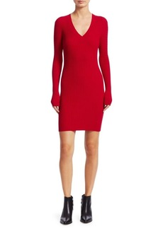Rag & Bone Brea Knit Mini Sweater Dress
