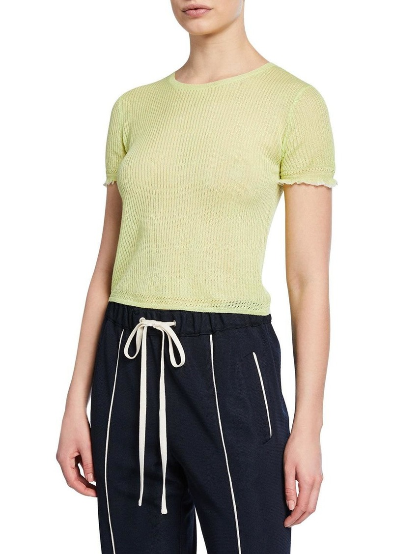 rag & bone Breanne Ribbed Cropped Tee