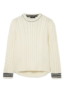 Rag & Bone Brighton Cable-knit Wool Sweater