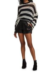 rag & bone Brit Leather Shorts