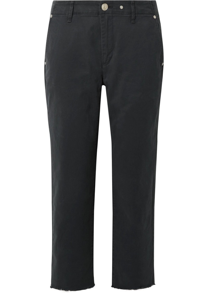 rag & bone Buckley Cropped Cotton-blend Twill Straight-leg Pants