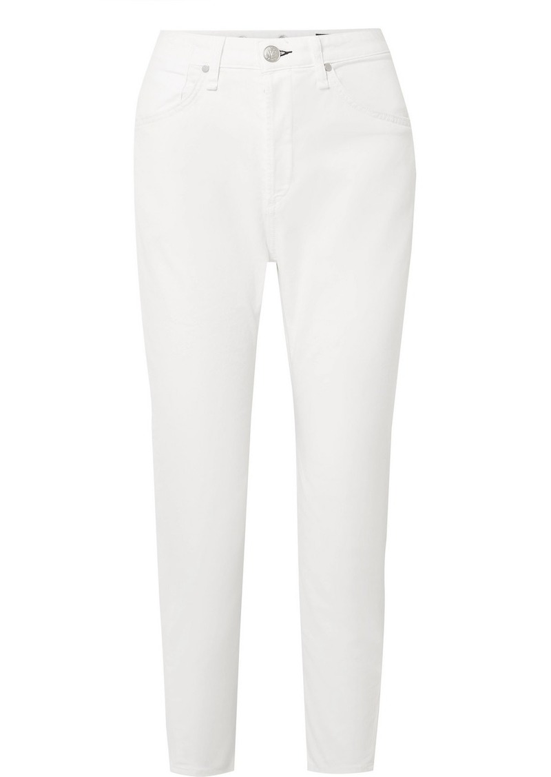 rag & bone Buckley Cropped Cotton-blend Twill Tapered Pants