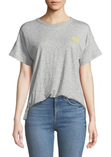 Rag & Bone Bye Embroidered Graphic Crewneck Tee
