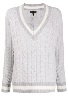 rag & bone cable knit varsity jumper